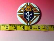 "KNIGHTS OF COLUMBUS - Sword Anchor Cross Large BUTTON 3"" pin-back"