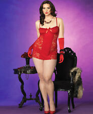 Sexy Leg Avenue Red Christmas Holiday Costume Lingerie Set Plus Size 3X/4