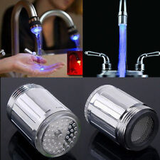 Hot Sale RGB Blue LED Light Water Shower Spraying Head Faucet Bathroom