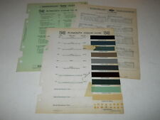 1940 PLYMOUTH PAINT CHIP CHART COLORS SHERWIN WILLIAMS PLUS MORE