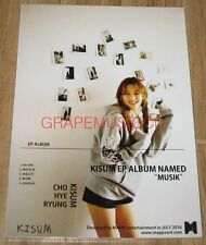 "KISUM CHO HYE RYUNG EP ALBUM NAMED ""MUSIK"" K-POP CD SEALED"