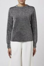 Metallic Silver Crew Neck Jumper by Boutique size 4 RRP £60 box5504 M