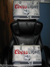 COORS LIGHT BEER SOFT COOLER COLLAPSIBLE BAGS NFL FOOTBALL INSULATED SET OF 2 !