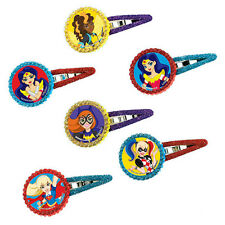 DC SUPER HERO GIRLS HAIR BARETTES (12) ~ Birthday Party Supplies Accessory Clips