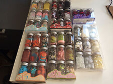 48 Jars  Embellishment Lot For Scrapbooking, Card Making, Crafts, Sewing Etc