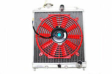 96-00 Honda Civic EK EM 2/3/4 DR Aluminum Radiator M/T + Red Fan SOHC DOHC
