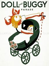 ADVERTISING DOLL AND BUGGY PARADE ART POSTER PRINT LV660
