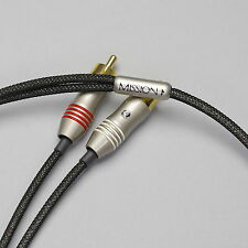 Zu Audio MISSION Mk.1 RCA 3.3ft [1m] Hi-Fi 2-Channel Stereo Interconnect Cable