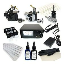 TATTOO BASIC STARTER KIT Supply Ink Needles Machine Grips Power Pedal Tips Clip