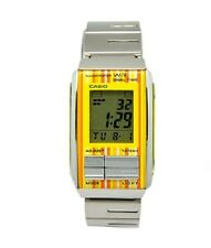 Casio LA201W-9C Ladies Futurist Metal Band Yellow Alarm Chronograph Watch NEW
