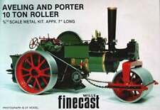 Aveling Single cylinder Steam Roller - white metal model to assemble and paint