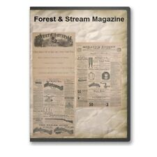 Forest & Stream Magazine Outdoor Life Issues From 1874-1896 Two DVD Set - A833-4