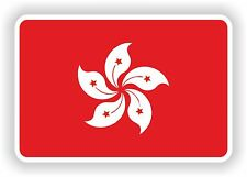 """Hong kong drapeau autocollant 2,8 x4 """"Voiture Pare-chocs Autocollant Réfrigérateur TABLETTE PORTE vélo camion Livre"""