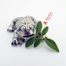 Chinese Export Silver Figural Frog Pendant