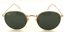 NEW  Ray-Ban Sunglasses Round Metal RB3447 001 50mm Green G-15 Lens
