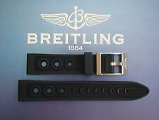 QUALITY 22MM BLACK OCEAN RACER WATCH BAND WATCHBAND BRACELET STRAP FIT BREITLING