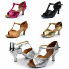 New Women's Classic Tango Ballroom Latin Salsa Dance High Heels Shoes US 4.5-7