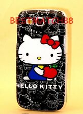 FOR SAMSUNG GALAXY S3 PHONE  BLACK WHITE RED HARD CASE cute kitten i9300/ S III