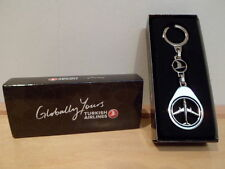 Turkish Airlines Metal Keychain Key Chain Keyring Chrome Silver