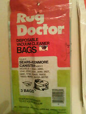BARGAIN 2 bags of 3 Rug Doctor Fits Sears & Kenmore Canister Vac total of 6 bags