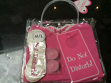 BNWT - GIRLY GIFT PACK VEST SHORTS EYE MASK TEA LIGHTS DO NOT DISTURB HEN NIGHT