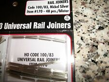 Atlas HO Scale Code 100/83 Nickel Silver Rail Joiners 48 piece Bob The Train Guy