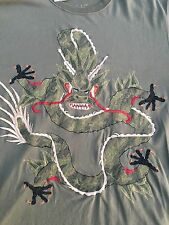 Maharishi Embroidered Dragon Tee Shirt XXL BNWT