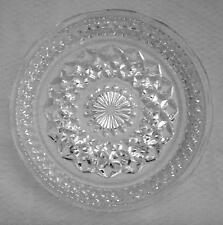 "Vintage Small Clear Glass Floral Chrysanthemum Pattern Dessert Bread 6"" Plate"