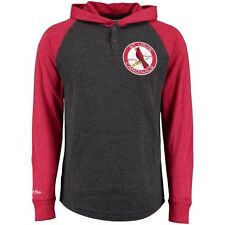 St. Louis Cardinals Mitchell & Ness Power Stretch Lightweight Hoodie Sweatshirt