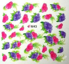 One Stroke Stickers-NAIL TATTOO - M43  - wasserlöslich