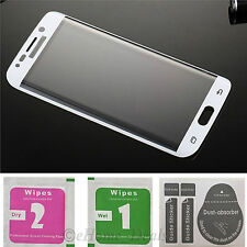 3D HD Tempered Glass LCD Clear Screen Protector For Samsung Galaxy S6 Edge White