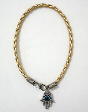 Gold Colour -HAMSA Kaballah Bracelet ~ Good Luck Jewish Against Evil Eye String