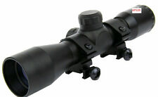 "4x32 Compact .22 .223 .177 Rifle Scope Mil Dot Reticle w/ FREE Set of 1"" Rings"