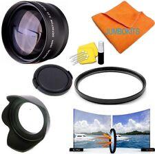 58MM 2X TELEPHOTO ZOOM LENS + UV+LENS HOOD +CAP FOR Canon EOS Rebel T3 T3I 1200D