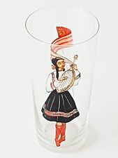 VERRE CRISTAL 1950 VINTAGE DECOR MAIN URSS RUSSIE RUSSIA HAND PAINTED GLASS