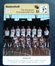 1977-1979 Sportscaster Card Basketball The European Championship Cup 13-04