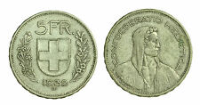 pci1412) Svizzera  Switzerland  Helvetia - 5 Franchi Francs 1932 B not cleaned