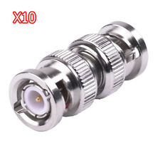 10 pcs CCTV RG59 BNC Coupler Male to Male Connector Coaxial Straight Adapter M/M