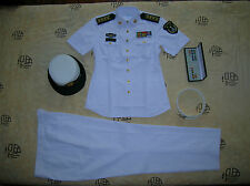 Obsolete 07's China PLA Navy Woman Officer Summer Short-sleeved Uniform,Set,(H)