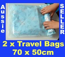 2 New 70 x 50 cm Travel Space Saver Saving Hand Roll Up Roller Seal Bags Storage