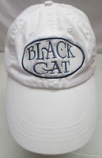 Black Cat White Hat Adjustable Embroidered Patch Anvil Cotton One Size
