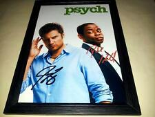 "PSYCH CAST X2 PP SIGNED & FRAMED 12""X8"" POSTER JAMES RODAY DULE HILL"