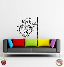 Wall Sticker Birds Tree Heart Branch Cage Decor for Bedroom z1317