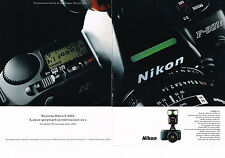 PUBLICITE ADVERTISING  1991   NIKON  appareil photo F-801 S ( 2 pages)