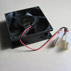 80mm Computer PC Desktop Case Fan Cooling Cooler 2-port 4pin power socket 8cm