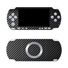 Black Carbon Fiber Vinyl Decal Skin Sticker Cover for Sony PSP 2000