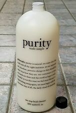 "New! Philosophy ""Purity One-Step Facial Cleanser"" Wash JUMBO 64 fl oz SEALED!"