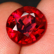 6.2CT Natural Mozambique Pigeon Blood Red Ruby Faceted  Cut QHBd80