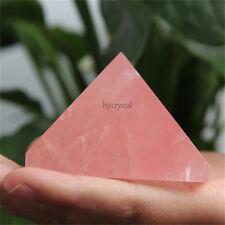 2.4 inch FREE SHIPPING! Natural Healing Pink/Rose Quartz Crystal Pyramid