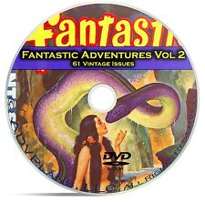 Fantastic Adventures, Vol 2, 61 Classic Pulp Magazine Golden Age Fiction DVD C29